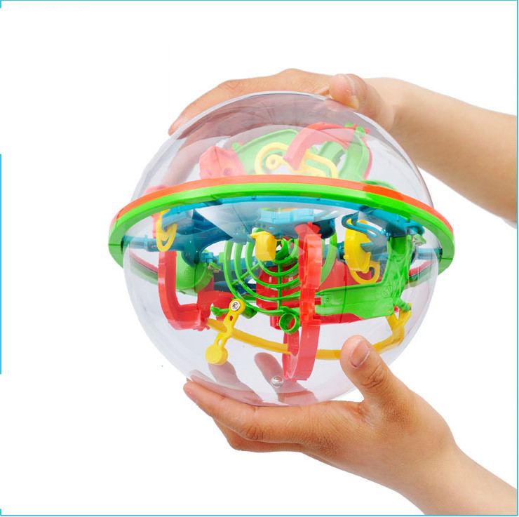 100 Steps Small Big Size 3D Labyrinth Magic Rolling Globe Ball Marble Puzzle Cubes Brain Teaser Game Perplexus Sphere Maze C0A68(China (Mainland))