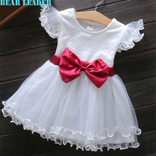 Bear Leader Baby Grils Dress 2016 New Summer Casual Style Princess Dresses Kids Clothes Bow Floral Design for Baby Girls Dress(China (Mainland))