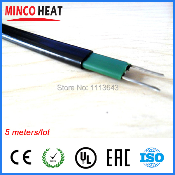 220V self regulating solar water heater pipe antifreeze and house pipe warming freeze protection heating cable(China (Mainland))