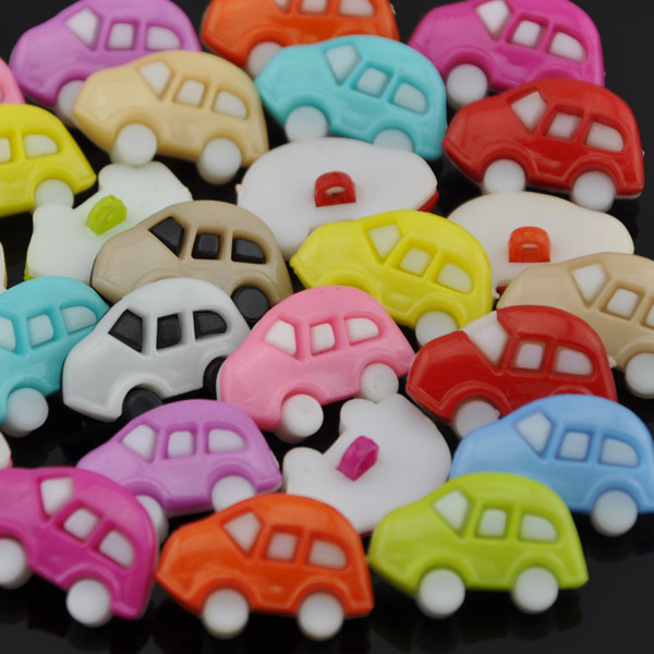 100pcs Lovely car Baby/Kid's Backholes Sweing buttons Mix PT87(China (Mainland))