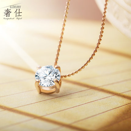 Fashion Austrian Crystals Diamond Pendant Necklace Rose Gold Female Short design Chain Accessories Popular Women's Gift - LUCKY STAR 123 STORE store