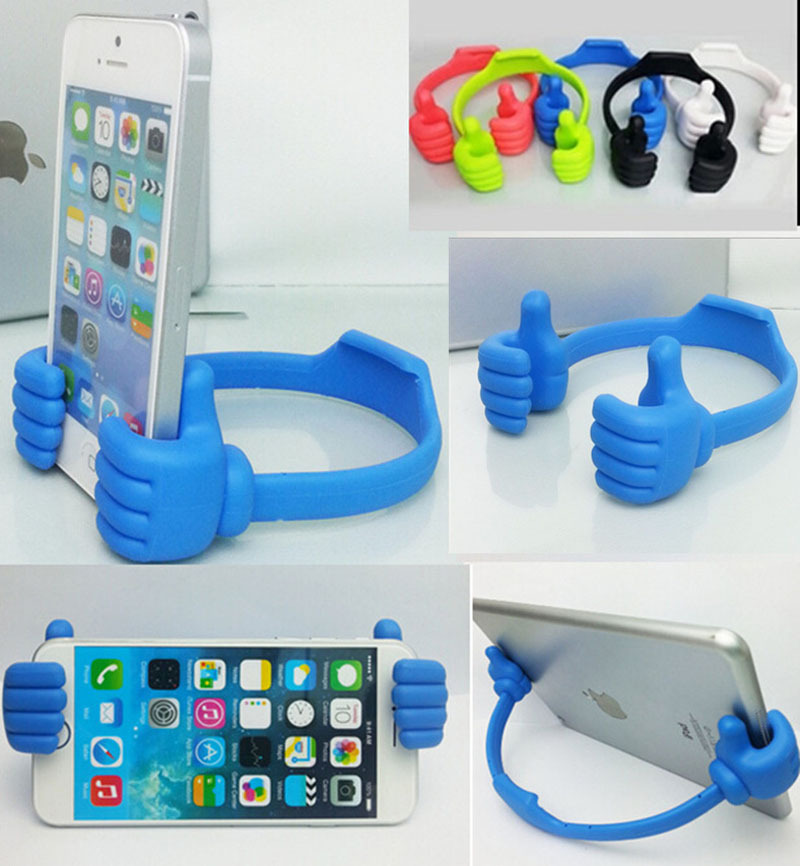 2015 Mobile phone Holder Universal Thumbs Modeling Phone Stand Bracket Mount iPhone6 iPad Samsung Cell Tables - China South City store