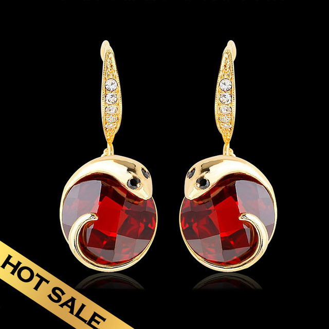 Special Drop Earrings Synthetic Zircon Synthetic Diamond Snow Classic Vintage Design Snake Free Shipping Luxury Jewelry EHG9B02