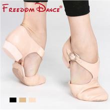 Chính hãng Leather Stretch Jazz Giày Khiêu Vũ Cho Phụ Nữ Ba Lê Jazzy Dancing Giày Giáo Viên của Dép Khiêu Vũ Tập Thể Dục Giày D005353(China (Mainland))