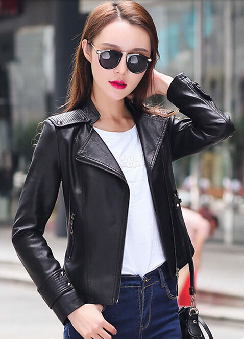 2016 fashion women leather jacket coat womens leather clothing spring and autumn jacket slim outerwear womens jacket pinkОдежда и ак�е��уары<br><br><br>Aliexpress