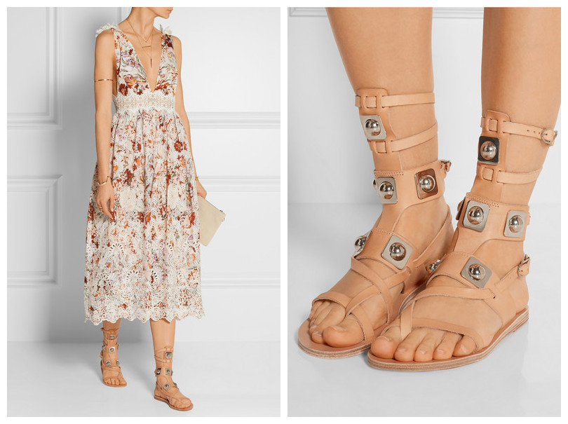 New Brand Gladiator Sandals Bling Charm Ankle Strap Flat Heel Nude Leather Sandals Summer Boots Woman Shoes Free Shipping