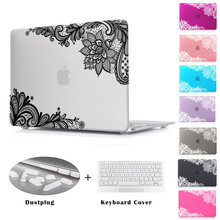 "Batianda(TM) Floral Lace Air 11 12 13 Pro 13 15 Rubberized Frosted Matte Hard Case Cover for MacBook Pro 13.3 15.4"" with Retina"