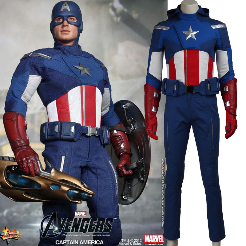 Captain America the Avengers Cosplay Costume superhero Steve adult Captain America costume Halloween Costumes