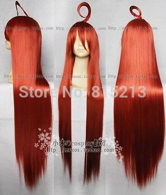 dd00588 VOCALOID MIKI long Straight red supple womans full hair cosplay short wig free cap<br><br>Aliexpress