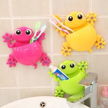 Creative Cartoon Sucker Gecko Toothbrush Wall Suction Bathroom Sets Toothbrush Holder(China (Mainland))