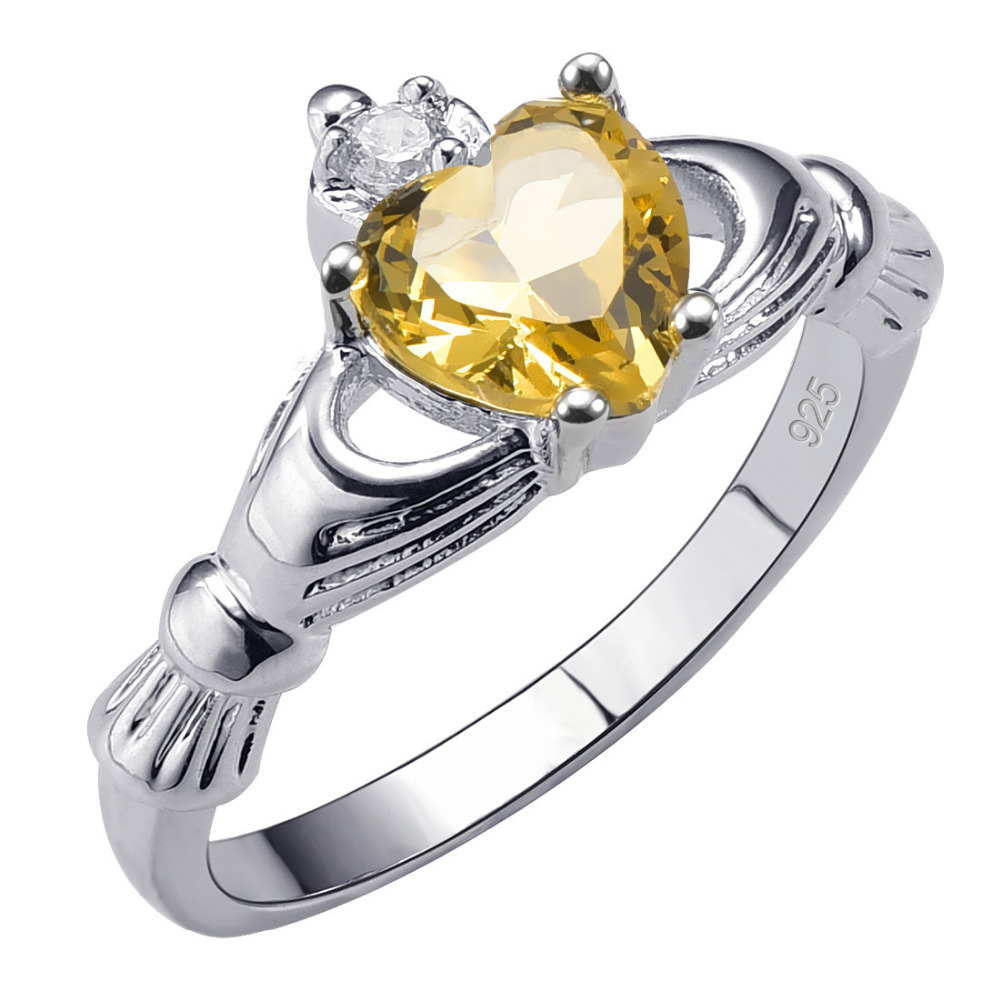 Hot Sale Exquisite Citrine 925 Sterling Silver High Quantity Ring Beautiful Jewelry Size 5 6 7 8 9 10 11 12 F1526(China (Mainland))