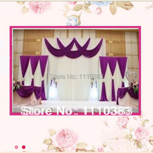 Здесь можно купить  3m/10ft(w)X3m/10ft(h) White Wedding Backdrops With Swag and Drape Wedding Backdrop free shipping 3m/10ft(w)X3m/10ft(h) White Wedding Backdrops With Swag and Drape Wedding Backdrop free shipping Дом и Сад