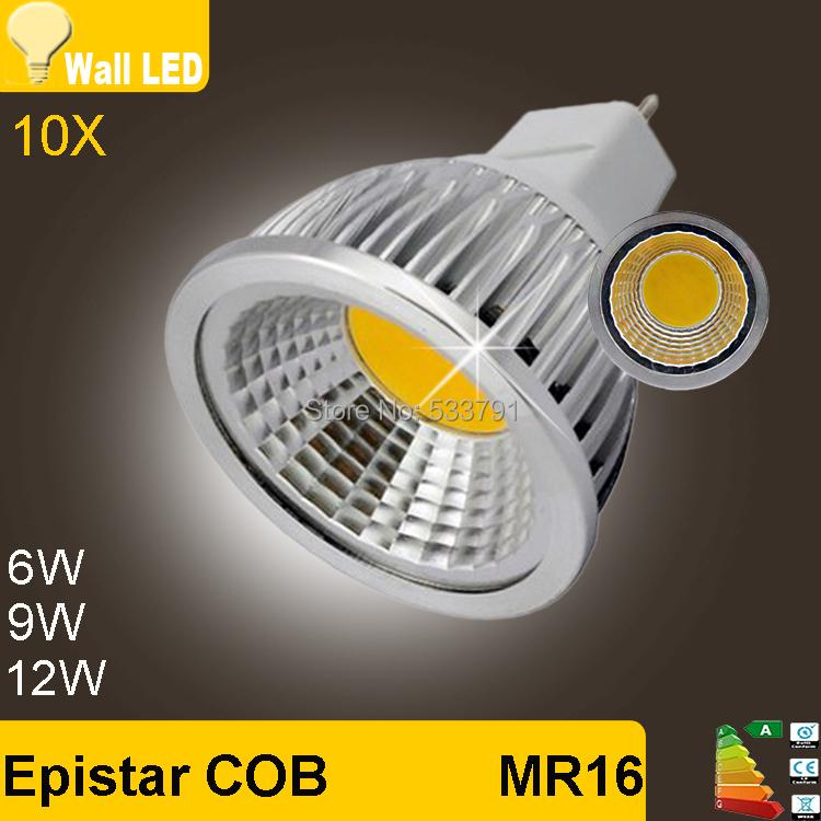 10pcs led cob lamp cron Bulb Light Spot Light 12v 220v- 240v G5.3 MR16 6w 9w COB 12w 15W 85-264V LED Downlight LED Bulb Light(China (Mainland))
