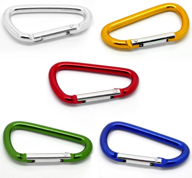 5PCs Mixed Carabiners Climbing Camp D-Ring Keychains Clips Hooks 6.6x3.7cm Free Shipping(China (Mainland))