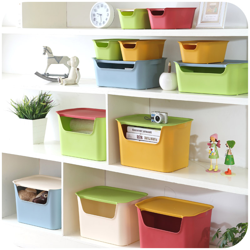 Free shipping bathroom kitchen storage box with windows - Plastic bathroom storage containers ...