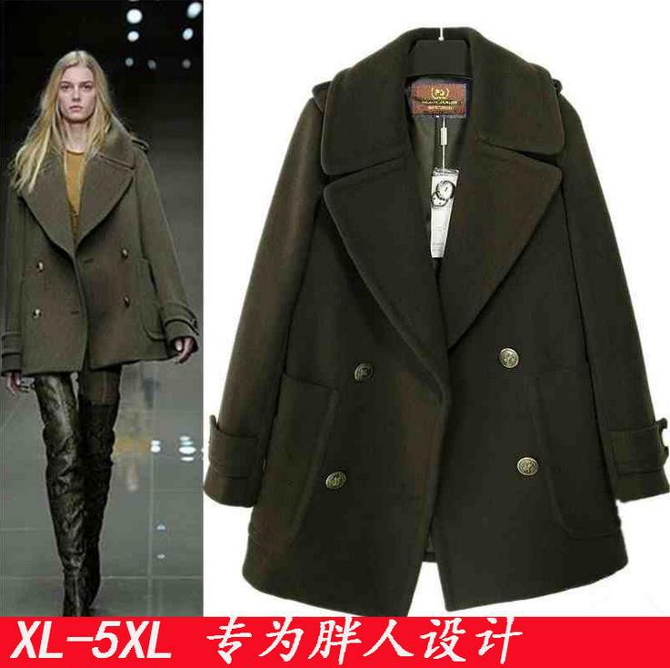 2014 Autumn Winter Fashion Women's Woolen Trench Coat Overcoat Long-Sleeve Outerwear Large Size:S-XXL