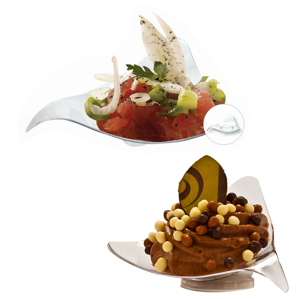 Appetizer plates promotion shop for promotional appetizer for Disposable canape dishes