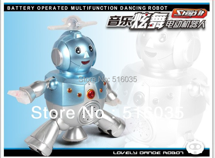 Free Shipping 2013 Hot Sale electronics toy dancing robot toys with Gliding walk battery operated multifunction dancing robot(China (Mainland))