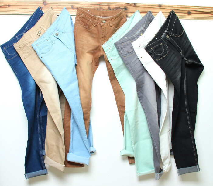 8 Color Stonewashed 2015 Tot Sale Men's Straight Jeans Gradient Denim Pants Male Fashion Jeans Men Skinny Ripped Lzc-125(China (Mainland))
