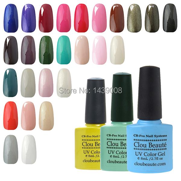 Special Price 73 Colors 8ml Clou Beaute Any 1 Color UV Led Gel Nail Soak Off Top Nail Polish(China (Mainland))