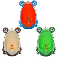 Cute Cartoon Blue Green Coffee Potties Frog Baby Potty Children Kids Training Urinal Plastic for Boy Wall Mounted