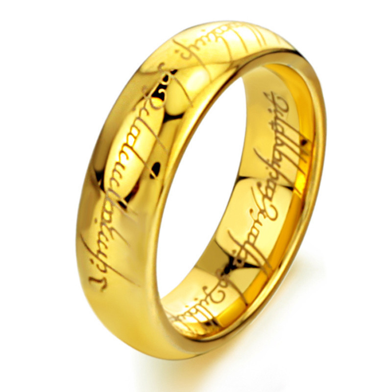 "Eternal classic ""Lord of the rings"" original tungsten steel making the ring ring vacuum plating color preserving for a long time(China (Mainland))"