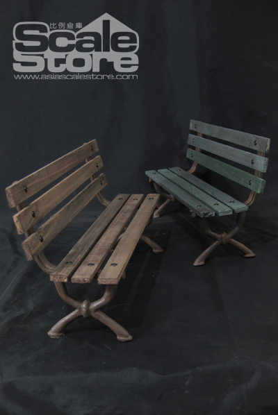 New 1/6 scales figure toys accessory 1/6 Park bench Chair Brown / Green for 1/6 hot toys HT scene in stock(China (Mainland))