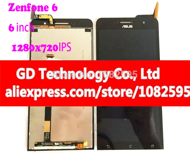 6inch 1280*720 New Original Zenfone 6 LCD Display Digitizer Assembly For Asus zenfone 6 A600CG Lcd Display Touch Screen