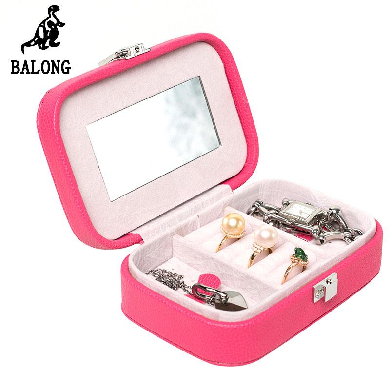 Fashion Jewelry Storage Organizer Mini Portable Jewellery Display Box Ring Earrings Bracelet Storage Box Packing Case Holder(China (Mainland))