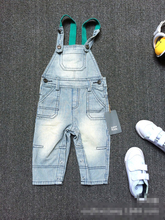 High Quality Brand Autumn baby rompers Boy's Girl's Jumpsuit bebe Denim Overalls kids boys jeans Baby Clothing(China (Mainland))