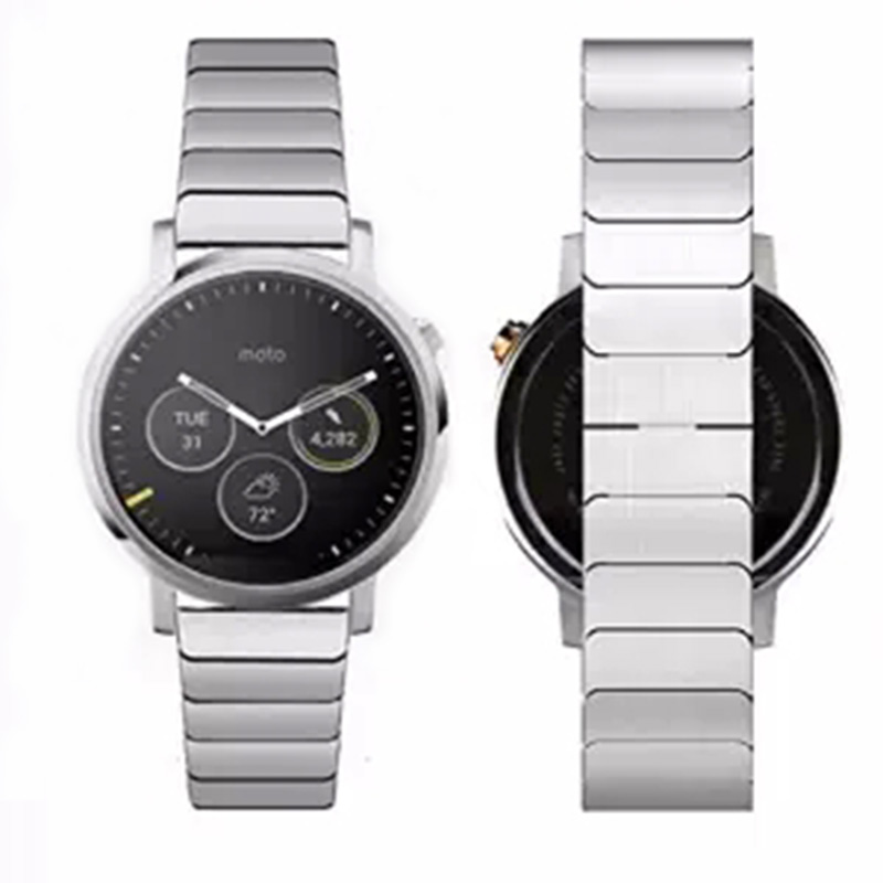 2015 New Link Bracelet Strap Motorola Moto 360 SMart Watch 2nd Gen Band Made 316L Stainless Steel 2 Connecting Rod - Rug Rubber Girl store
