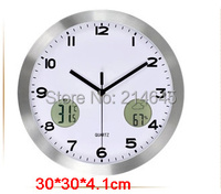 M43 LCD wall clock with Temperature and Humidity functions