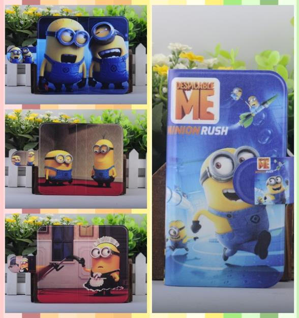 HOT Holster Movie 3D Despicable Me Minions Gru Silicone Rubber leather flip cover case for iPhone 3G 3GS(China (Mainland))