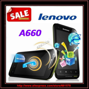"""beiyong---FREE SHIPPING 4.0"""" Lenovo A660 MTK6577 Dual Core Android 4.0 waterproof mobile phone 3G Dual sim cards"""