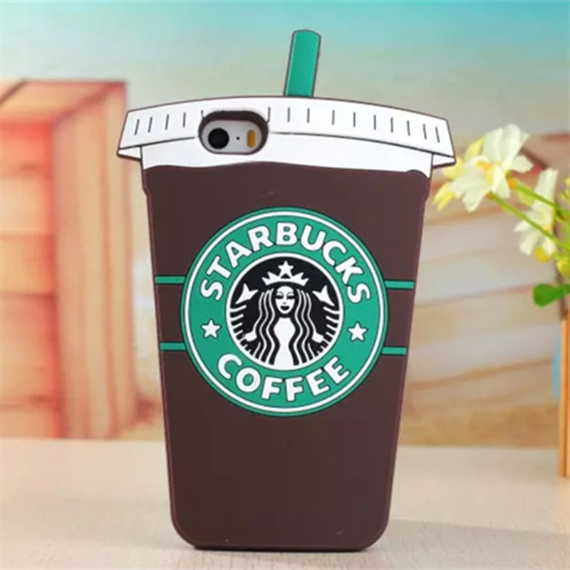 3D Cartoon Starbuck Coffee Cup Silicon Case For iPhone 4S 5S 6 6S 7 Plus For Samsung Galaxy S3 S4 S5 S6 S7 edge Note 3 4 5 J5