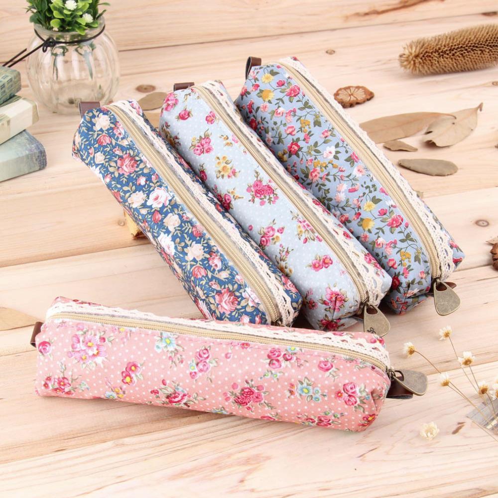 2016 Mini Retro Flower Floral Lace Case,storage bag school supplies Cosmetic Makeup Bag Zipper Pouch Purse, estojo escolar(China (Mainland))