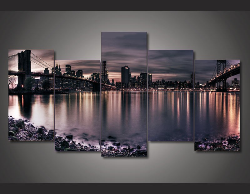buy canvas print painting new york city. Black Bedroom Furniture Sets. Home Design Ideas