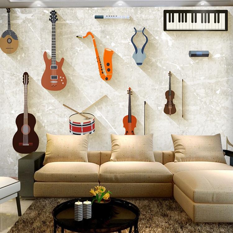 Murales de pared guitarra compra lotes baratos de for Murales pared baratos