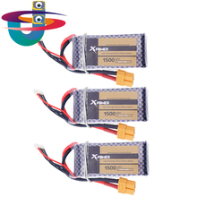 Buy HOT 3pcs LiPo Battery 11.1V 1500Mah 3S 40C MAX 60C T Plug RC Car Airplane boats Helicopter Part WLtoys V950 for $31.07 in AliExpress store