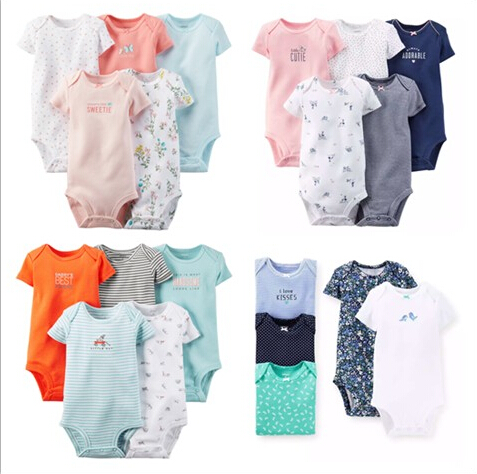 2015 New Original Carters Baby Bodysuit, Baby Short Sleeves Cotton Bodysuit Set, Baby Summer Bebes Next , Freeshipping<br><br>Aliexpress