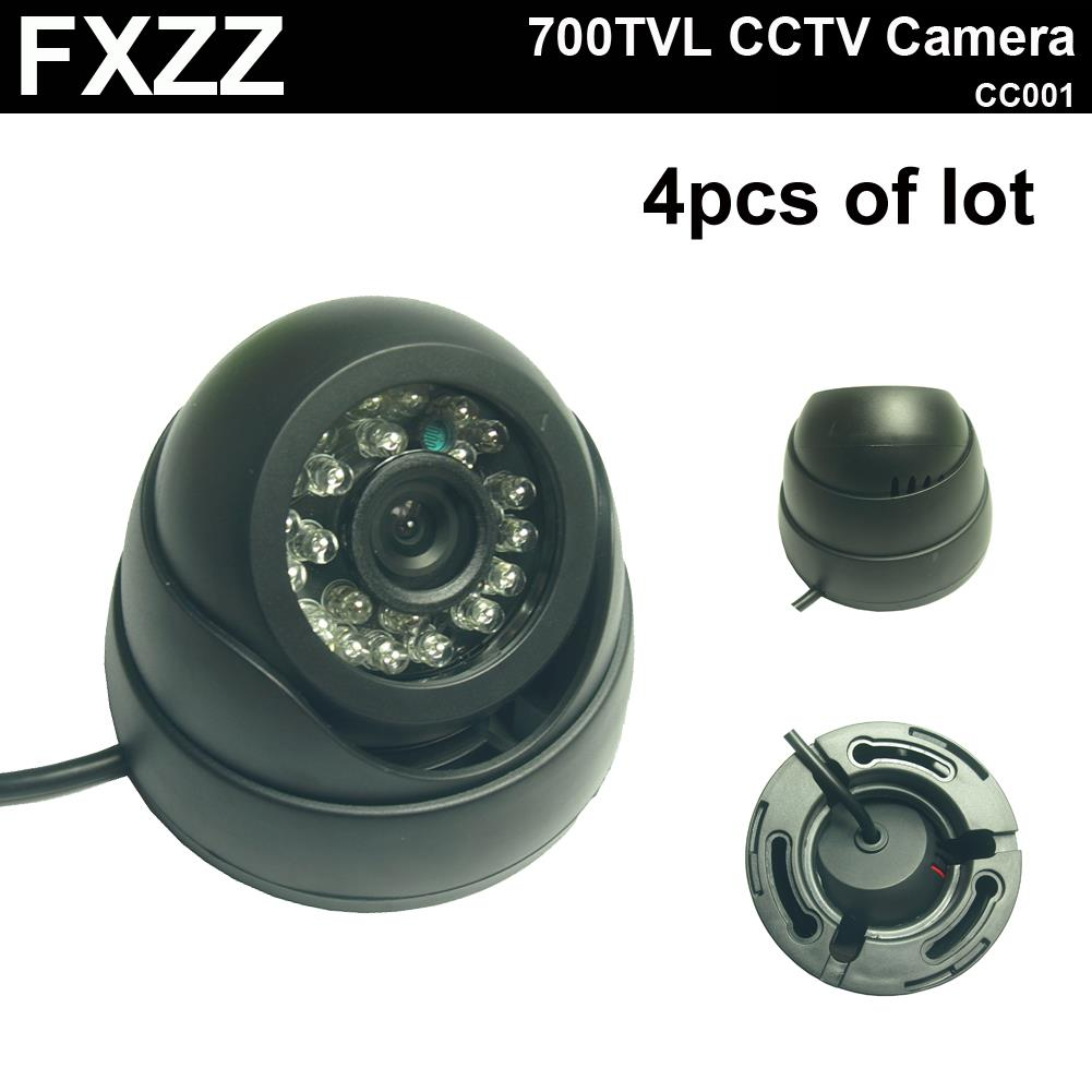 4pcs of lot,Hot Selling,Surveillance 24IR night vision Color IR Indoor Security Dome CCTV Camera free shipping<br><br>Aliexpress