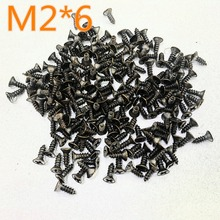 Buy M2*6 200pcs J246b Flat Self-tapping Screws Brass Material Black Small Philip's Screws DIY Model Making Tools Sell at a Loss for $2.19 in AliExpress store
