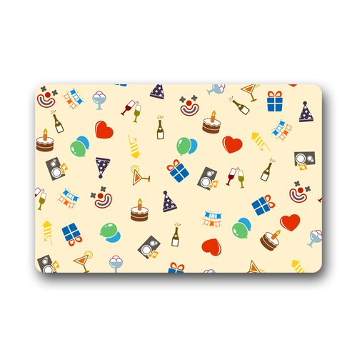 """2015 NewOriginal Personalized Birthday Party Gifts Birthday Cakes Vogue Picture Printed Doormat 23.6""""(L) x 15.7""""(W)Free Shipping(China (Mainland))"""