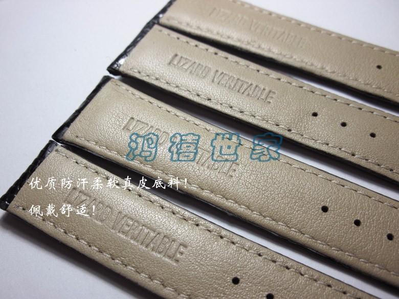 Мода Подлинной ящерица кожаный Ремешок Для Часов 19 ММ 18 ММ 21 ММ 22 ММ снизу коричневый кожаный браслет кожаный ремешок