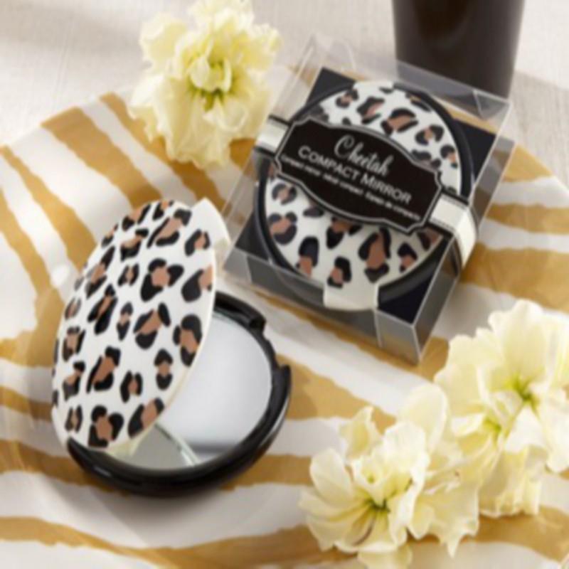 """(DHL,UPS,Fedex)FREE SHIPPING+50pcs/Lot+""""Cheetah"""" Compact Mirror Cosmetic Pocket Mirrors Make-up Mirror Bridal&Wedding Favor(China (Mainland))"""