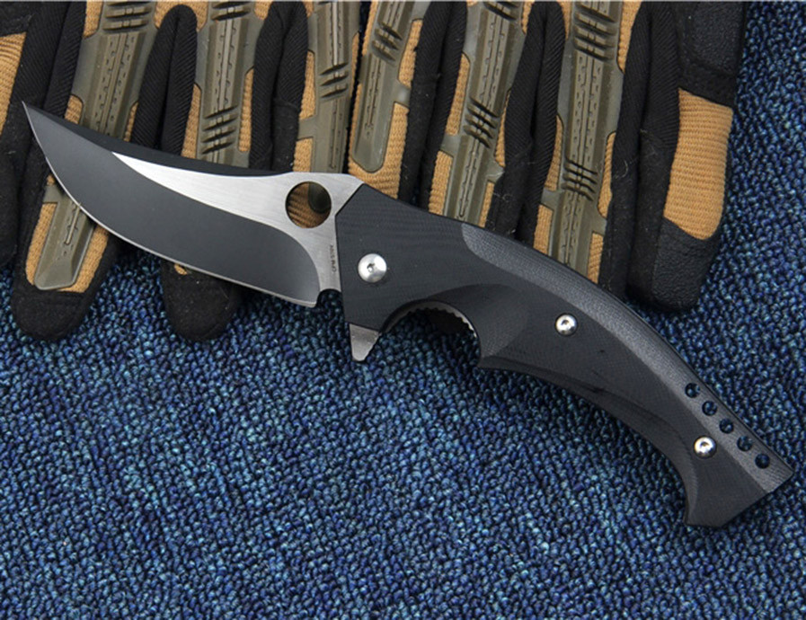 Buy WTT C196 Survival Hunting Folding Knife CPM S30V Steel G10 Handle Utility Tactical EDC Camping Pocket Knives Outdoor Combat Tool cheap