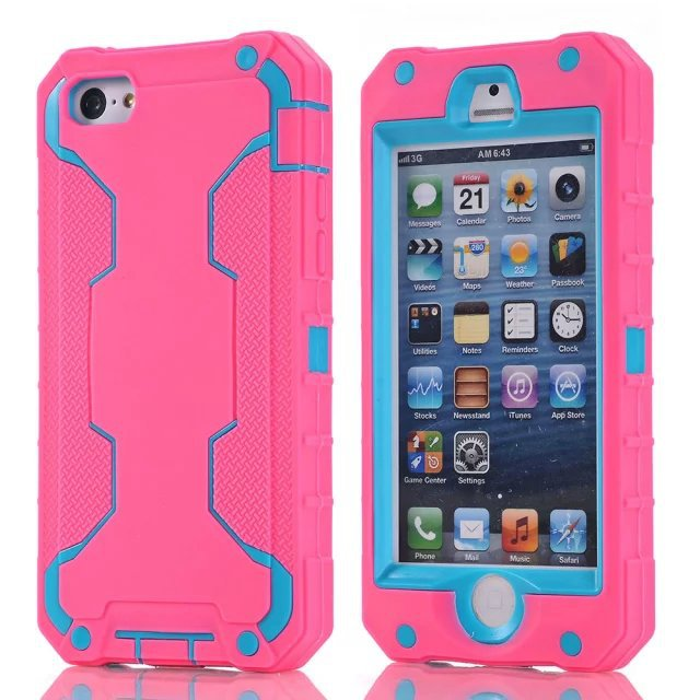 Coque 5c Hybrid 3 in 1 Robot Case Phone Armor Coque For iphone 5 5s 5c Hybrid Silicone+PC Back Cover i5 Hit Colors Capa xp010(China (Mainland))