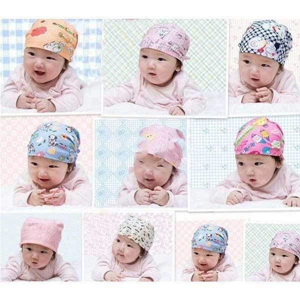 CrownBeach Cute Cartoon Cotton Baby Goldfish Cap Headcloth Pirate Knotted Hat(China (Mainland))