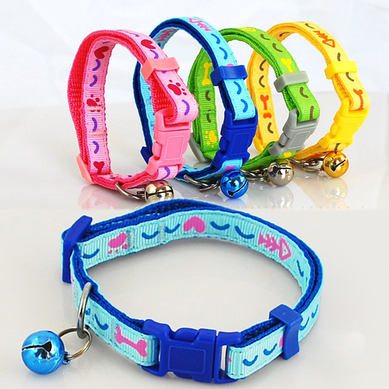Wholesale Pet Products 36 pcs Per Lot Cat Bell Collar Size XS 4 Colors Small Dog Pet Collar Reflective In The Night(China (Mainland))