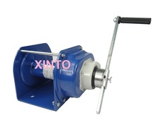 500KG Industrial heavy duty hand winch with brake, lifting pulling manual windlass, boat automotive trailer(China (Mainland))
